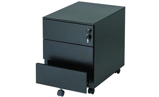 Casetiera cu 3 sertare neagra