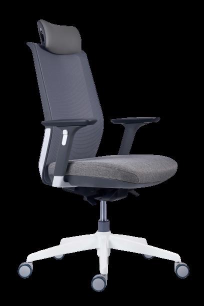 scaun ergonomic plasa gri